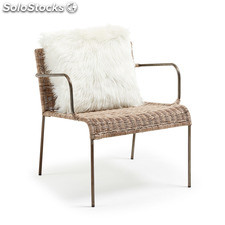 Kavehome - Sillón Climb, disponible en Fibra natural,Metal y de color