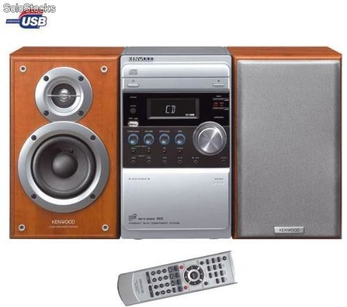 kenwood micro chaine cd k7 mp3 usb m 505usb silver