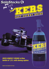 Kers fast energy drink 1.5 liters with dosing siphon