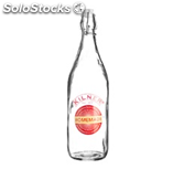 Kilner kil clip top bottlw with homemade decal s/p 1