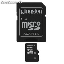 Kingston - Tarjeta de memoria flash ( adaptador microSDHC a SD Incluido ) - 32