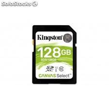Kingston Technology - Canvas Select 128GB SDXC UHS-I Clase 10 memoria flash