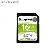 Kingston Technology - Canvas Select 16GB SDHC UHS-I Clase 10 memoria flash