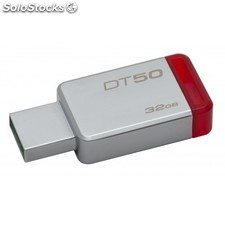Kingston Technology - DataTraveler 50 32GB 32GB USB 3.0 (3.1 Gen 1) Tipo A Rojo,