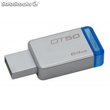 Kingston Technology - DataTraveler 50 64GB 64GB USB 3.0 (3.1 Gen 1) Tipo A Azul,
