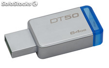 Kingston technology datatraveler 50 64gb 64gb usb 3.0 (3.1 gen 1) type-a azul,