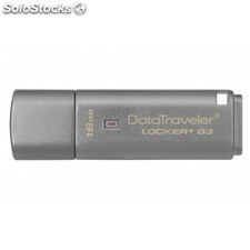 Kingston Technology - DataTraveler Locker+ G3 16GB 16GB USB 3.0 (3.1 Gen 1) Tipo