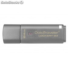 Kingston Technology - DataTraveler Locker+ G3 64GB 64GB USB 3.0 (3.1 Gen 1) Tipo