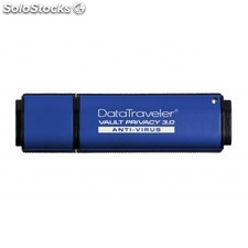 Kingston Technology - DataTraveler Vault Privacy 3.0 Anti-Virus 16GB 16GB USB