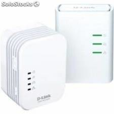 Kit 2 powerline 500m home av wirelessn mini extender,qos,c