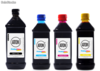 Kit 4 Tintas para hp Universal aton Black 1 litro Cyan Magenta Yellow 500ml