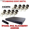Kit 8 Camara Super Alta Resolucion 650tvl Sony hdmi - Foto 1