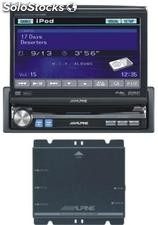 Kit alpine IVAD106R, rossa/blu, MP3, dvd, DvIX, interfaccia iPOD + vivavoce bluetooth + NVEM300P, navigatore con cartografia europea