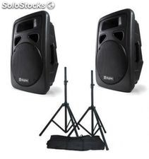 Kit altavoces activos skytec 12'' 600W rms mp3 usb/sd+bluetooh