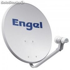Kit antena parabolica engel 60 cm + lnb + garra pared
