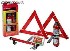 Kit Automotor (Ext 1 kg 3 - Cuarta - Botiquín - 2 Balizas triangulares)