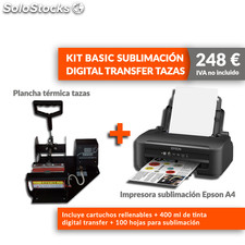 Kit basic sublimación digital transfer tazas