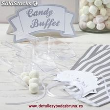 Kit Candy Buffet. Complementos detalles bodas, candy bar barra de chuches