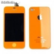 Kit Complet Iphone 4 et 4s(Ecran + Facade + Bouton) orange