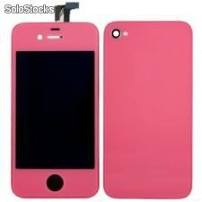 Kit Complet Iphone 4 et 4s(Ecran + Facade + Bouton) rose
