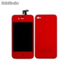 Kit Complet Iphone 4 et 4s(Ecran + Facade + Bouton) rouge
