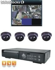 Kit de 4 camaras a color para interior con dvr