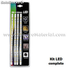 Kit de 4 tiras led smd5050 de 30 cm ip20 luz fría