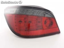 Kit de pilotos traseros LED BMW serie 5 sedan modelo E60 03- negro/rojo