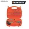 Kit de puntas con atornillador black and decker
