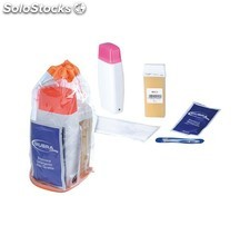 Kit Depilación con Fundidor Roll-on + Cera + Papel + Emulsión y Pinzas