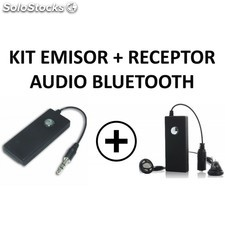 Kit emisor y receptor audio bluetooth jack 3.5""