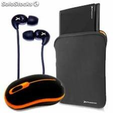 Kit funda sleeve phmunich10 + mouse phoenix wireless phm9179n + auriculares