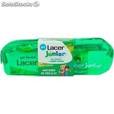 Kit Gel Lacer Junior Menta 75 ml + cepillo + neceser