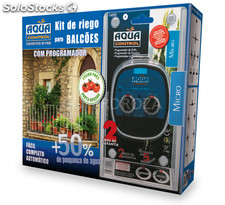 Kit goteo balcon + programador aquacenter