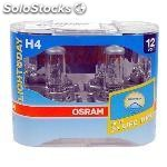Kit lamparas osram H4 64193 day ultra life 55/60W, 12V. P43T, luz dia