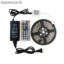 kit led strip smd5050 rgb 12v ip65 multicolor 5 metros