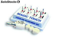 "Kit ""magic touch"" 8 fresas para tratamiento de protesis en ceramica"