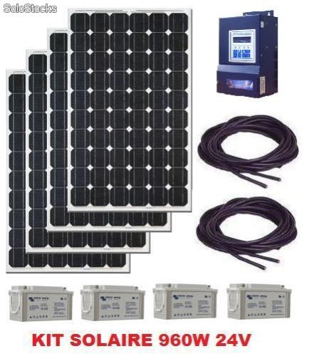 kit panneau solaire 1000w 24v complet. Black Bedroom Furniture Sets. Home Design Ideas