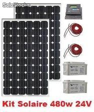 kit panneau solaire 500w 24v complet. Black Bedroom Furniture Sets. Home Design Ideas