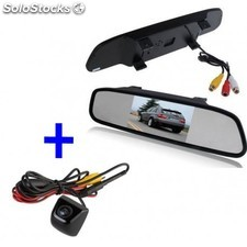 Kit Pantalla-retrovisor + Camara A Todo Color - Zesfor