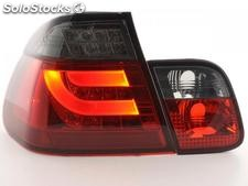 Kit pilotos traseros LED BMW serie 3 E46 berlina 02-05 rojo/negro