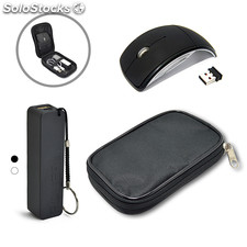 Kit Power Bank + Mouse sem Fio Promocional