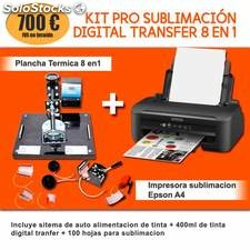 Kit pro sublimación digital transfer 8 en 1