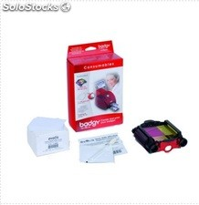 Kit Ribbon Ymcko Badgy 1 Cinta Mas 100 Tarjetas Pvc