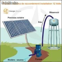 Kit solaire complet pompage 12 Volts 100 Watts
