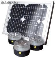 Kit Solaire Universel - 3 lampes led