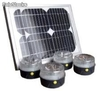 Kit Solaire Universel - 4 lampes led