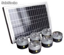 Kit Solaire Universel - 6 lampes led