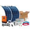 Kit Solar 800w Flexible: Luz, Tv Y Nevera. Con Inversor Onda Pura Y