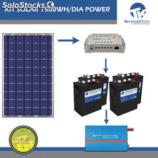 Kit Solar Fotovoltaico 1500Wh/dia Power